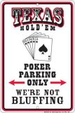 Poker Parking  Blechschild