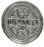Dealer Button Metall